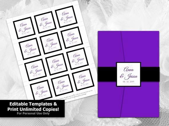 Wedding Tags Template Microsoft Word Awesome Diy Printable Wedding Seal Tag Template Editable Ms Word