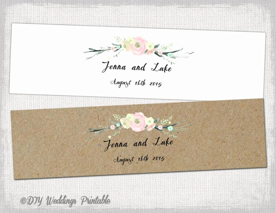 "Wedding Tags Template Microsoft Word Awesome Rustic Water Bottle Label Template Diy Pink ""rustic"