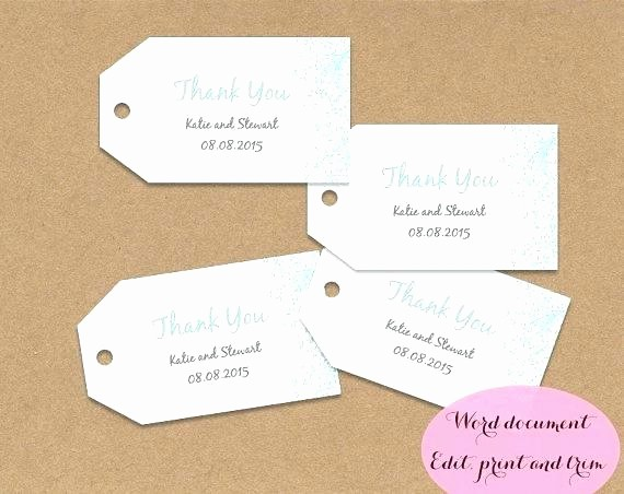 Wedding Tags Template Microsoft Word Elegant Wedding Favour Label Template Tag Design Ideas
