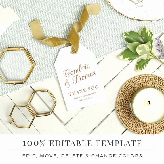 Wedding Tags Template Microsoft Word Inspirational Wedding Favor Tag Template Printable Hang Tags Word or
