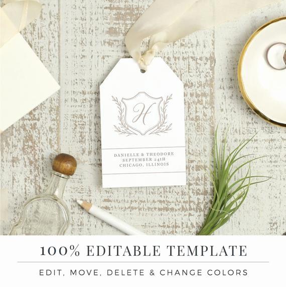 Wedding Tags Template Microsoft Word Luxury Wedding Favor Tag Template Printable Hang Tags Word or