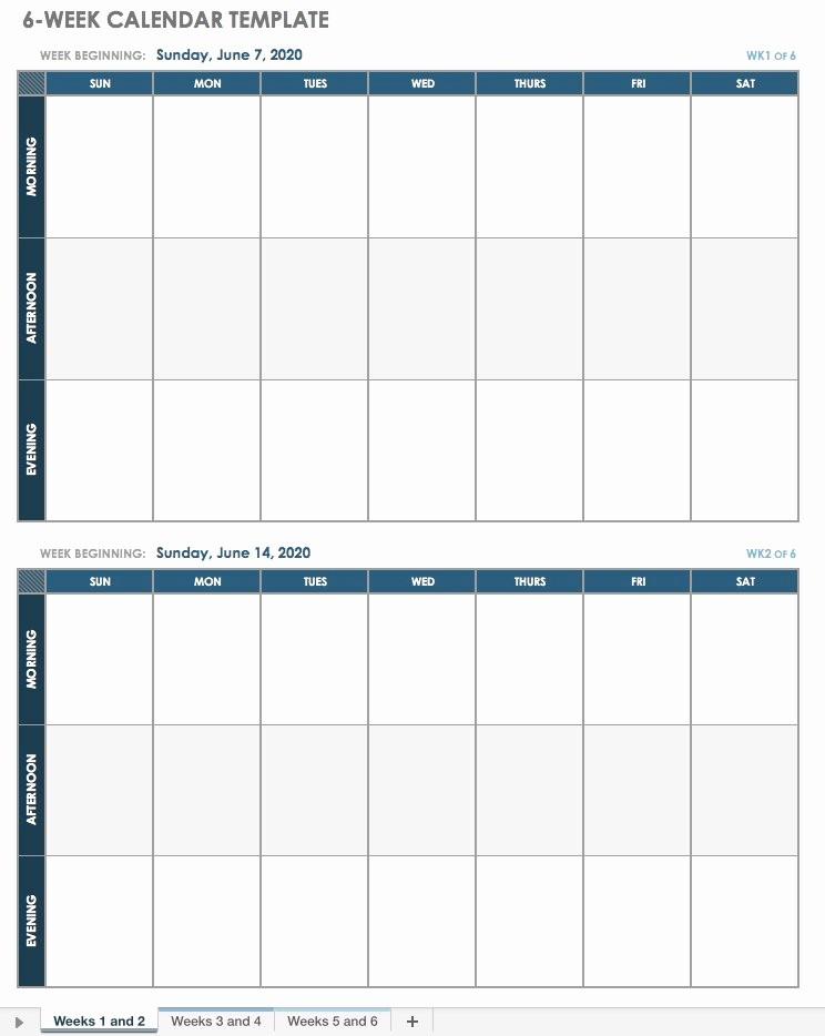 Week by Week Calendar Template Awesome 15 Free Weekly Calendar Templates
