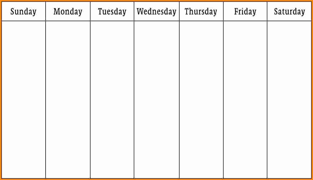 Week by Week Calendar Template Elegant 6 Week Schedule Template