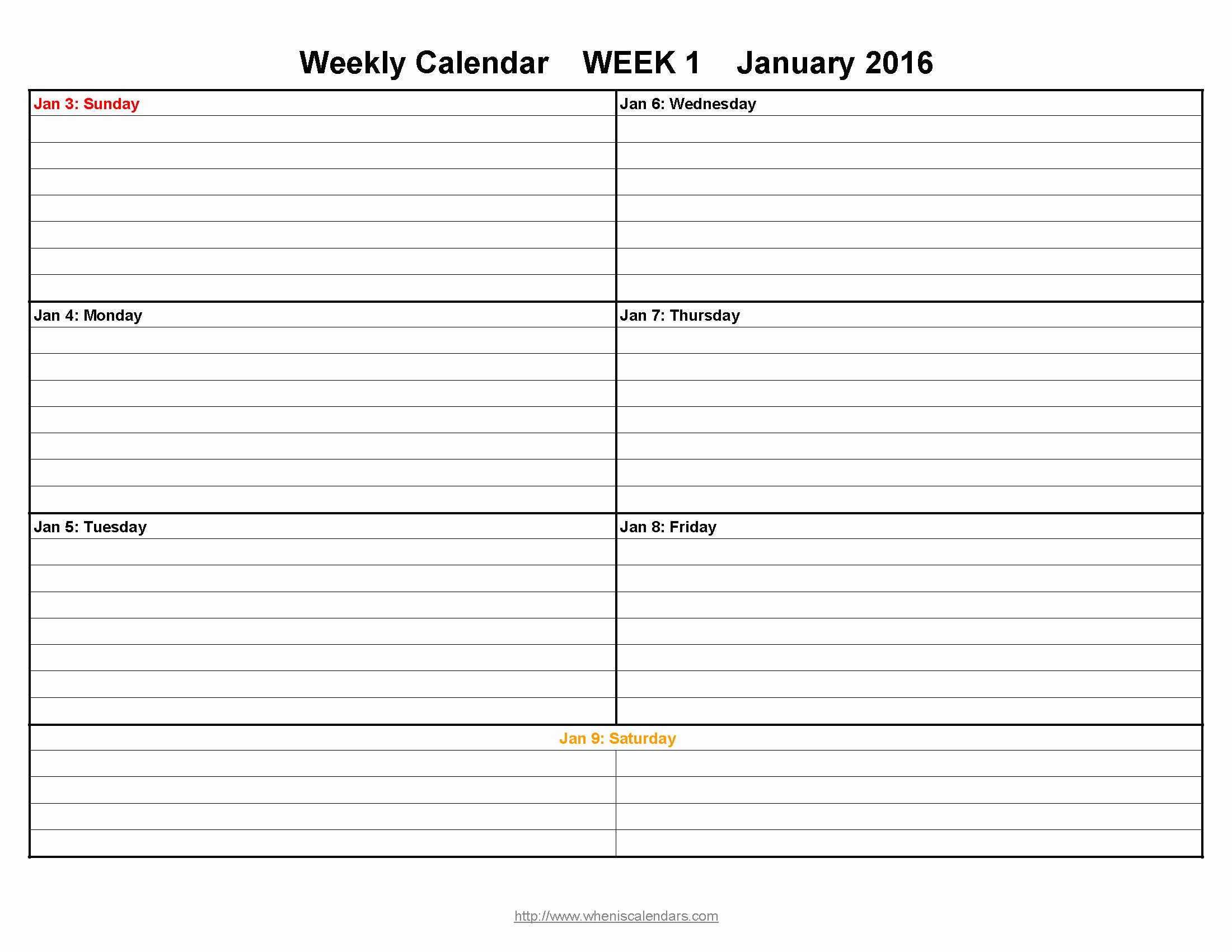 Week by Week Calendar Template Lovely Week Printable Calendar Template Sample