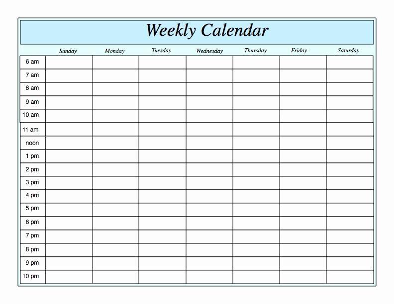 Week by Week Calendar Template Luxury Weekly Calendar Print Out