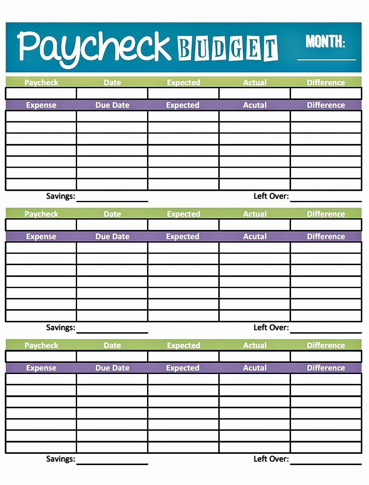 Weekly and Monthly Budget Template Elegant Bud Worksheet Printable