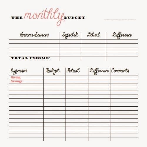 Weekly and Monthly Budget Template Fresh Free Monthly and Bi Weekly Bud Printables