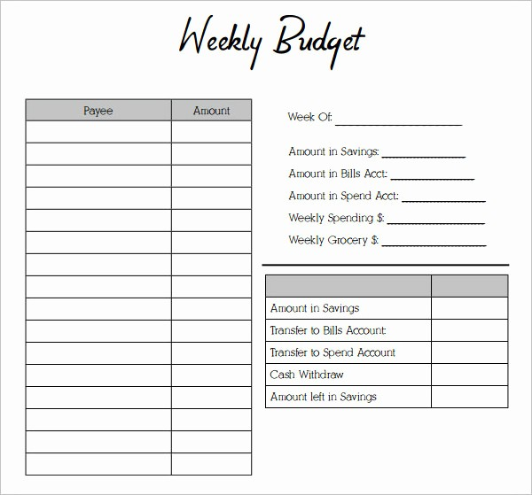 Weekly and Monthly Budget Template Inspirational 53 Bud Planner Templates Free Word Pdf Excel formats