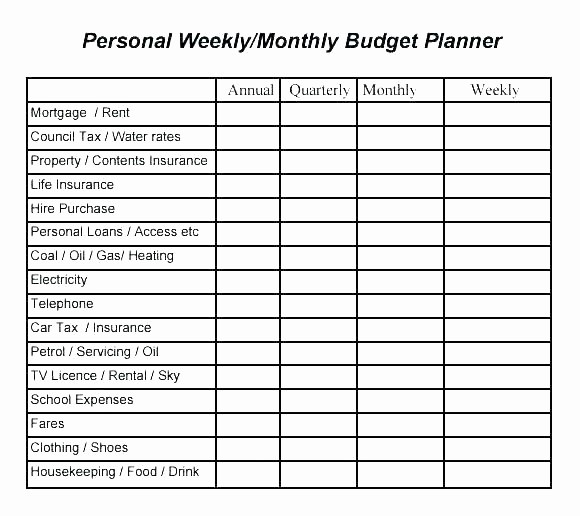 Weekly and Monthly Budget Template Inspirational Monthly College Bud Worksheet Weekly Template C Header