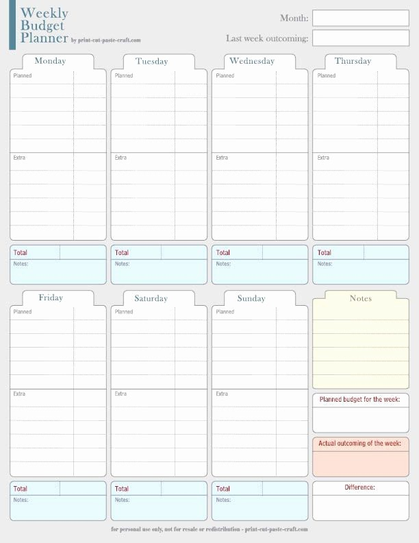 Weekly and Monthly Budget Template Inspirational Weekly Bud Planner Yes even Those $5 Starbucks