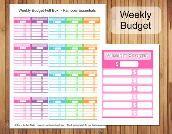 Weekly and Monthly Budget Template Luxury 33 Bud Templates Word Excel Pdf