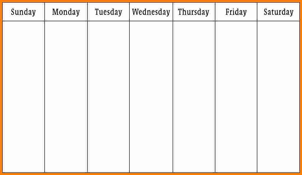 Weekly Calendar Monday Through Friday Beautiful 10 Monday Thru Friday