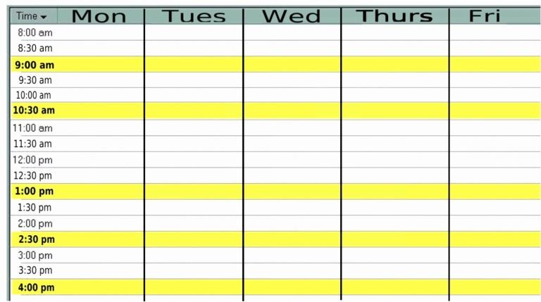 Weekly Calendar Monday Through Friday Inspirational 9 Best Of Monday Through Friday Planner Printable