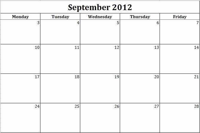 Weekly Calendar Monday Through Friday Unique 10 Best Of Monday Through Friday Calendar Template
