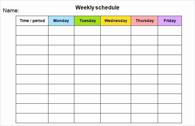 Weekly Calendar Monday Through Friday Unique Work Week Calendar Template 2018 – Techshopsavingsfo