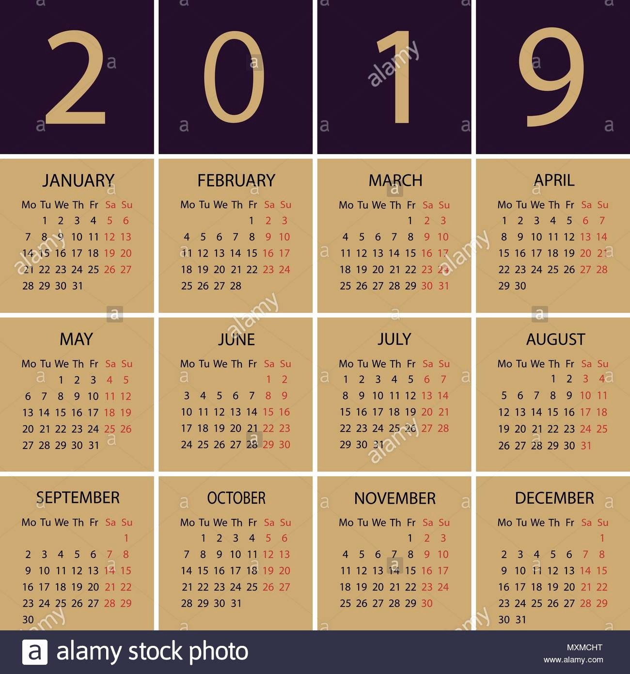 Weekly Calendar Starting with Monday Beautiful July 2019 Calendar Stock S & July 2019 Calendar Stock