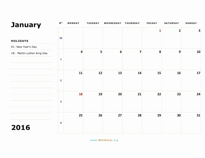 Weekly Calendar Starting with Monday Elegant Monday Through Sunday Calendar Template