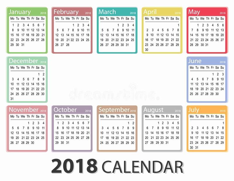 Weekly Calendar Starting with Monday Fresh 2018 Year Calendar Week Starts Monday Monthly