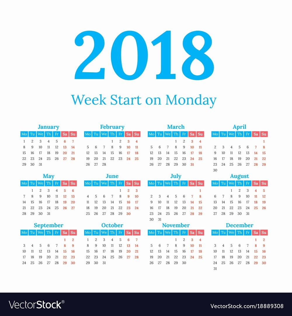 Weekly Calendar Starting with Monday Inspirational Calendar Starting On Monday