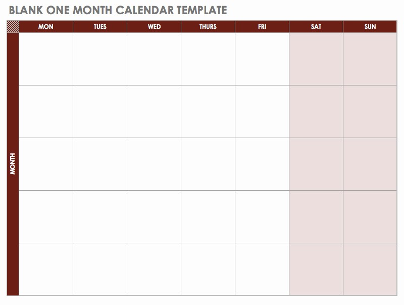 Weekly Calendar Starting with Monday Luxury 15 Free Monthly Calendar Templates