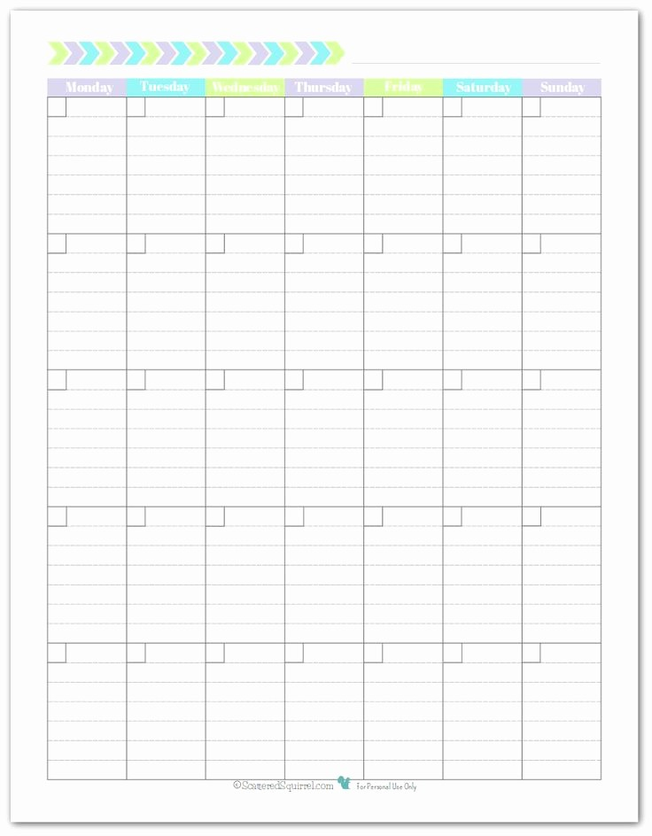 Weekly Calendar Starting with Monday Luxury 17 Best Ideas About Printable Monthly Calendar On