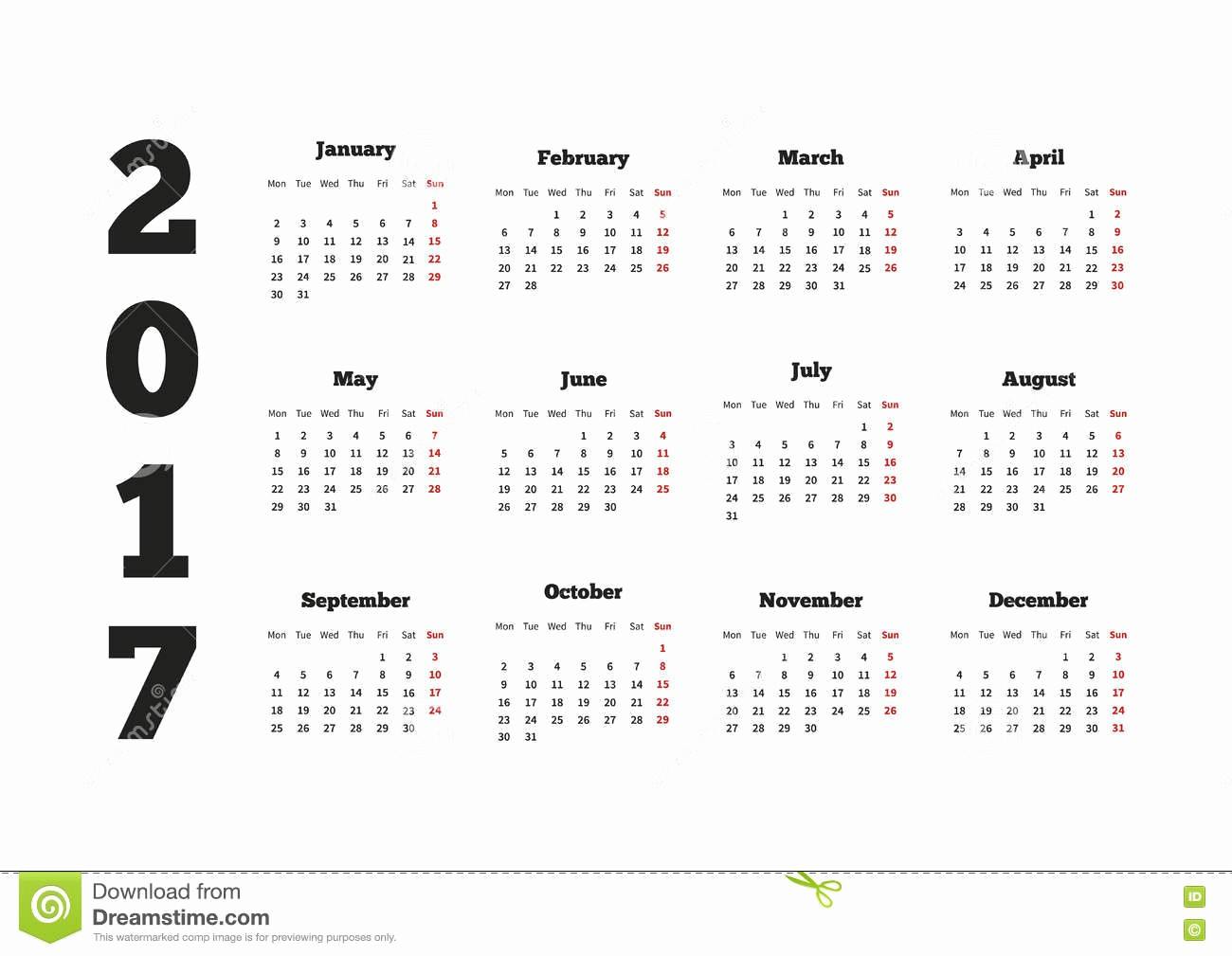 Weekly Calendar Starting with Monday Luxury Calendar 2017 Year with Week Starting From Monday A4