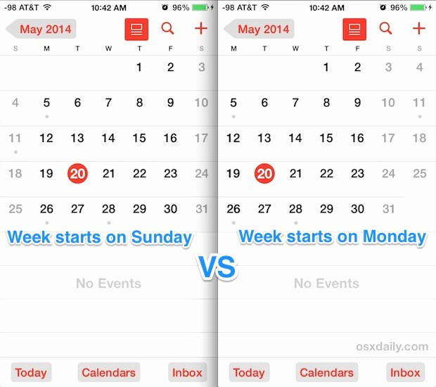 Weekly Calendar Starting with Monday Luxury Ios 7 Tips and Tricks Page 19