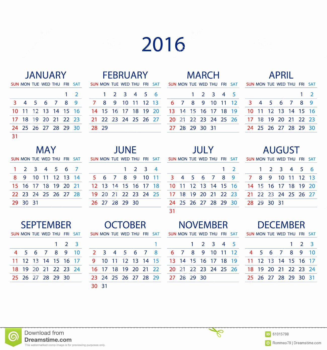 Weekly Calendar Starting with Monday New Calendar for 2016 White Background Week Starts Monday