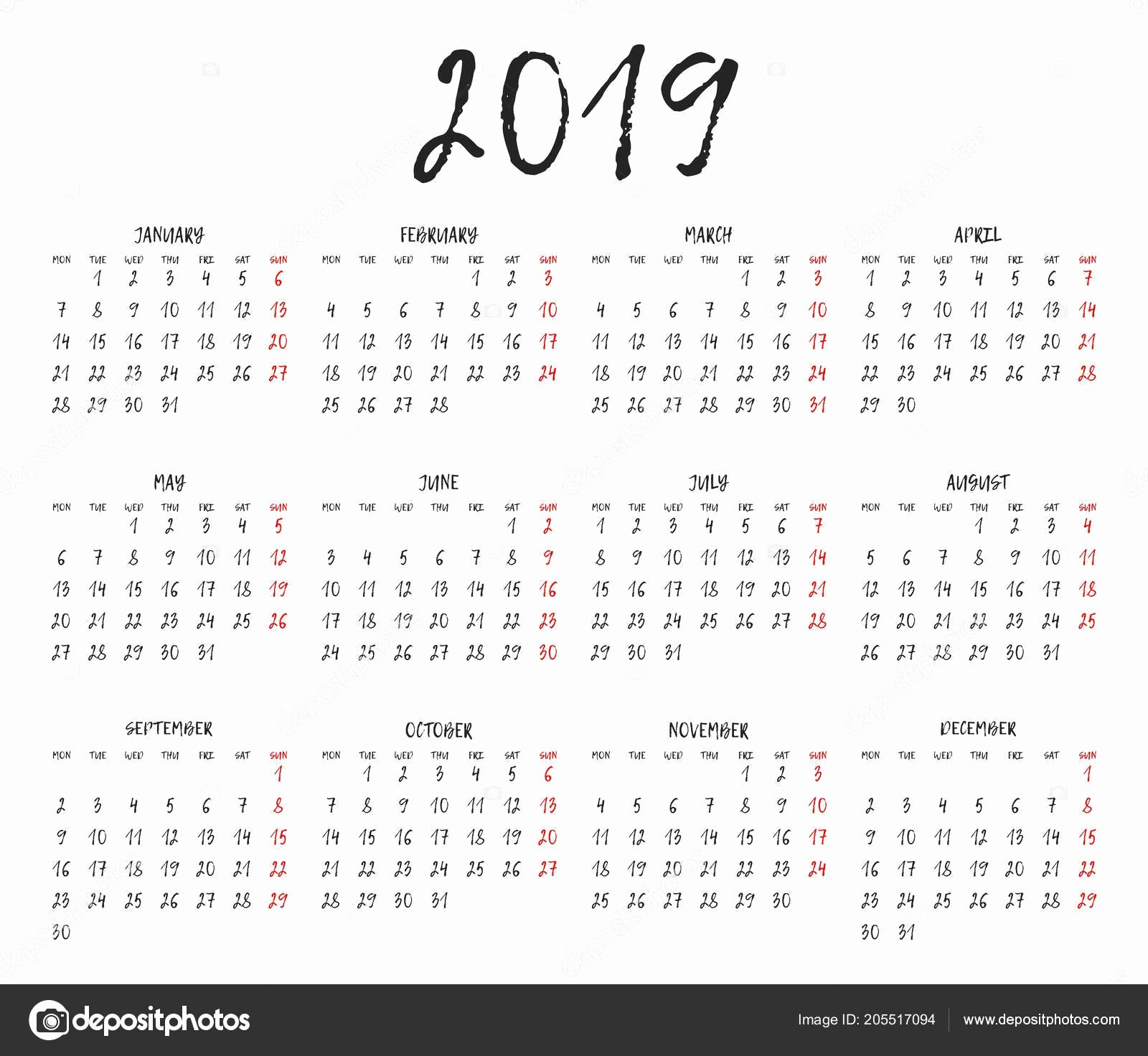 Weekly Calendar Starting with Monday Unique Information and Facts Connected with 2019 Calendar with