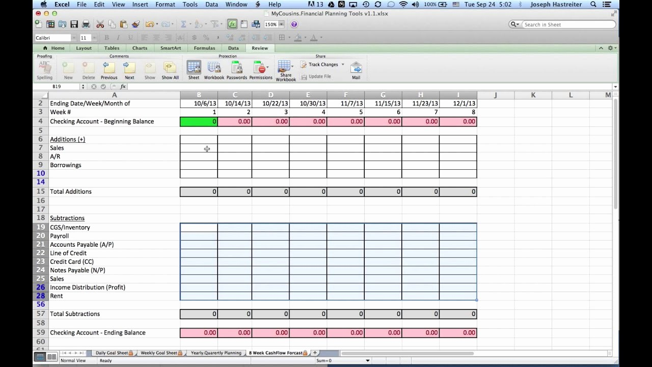 Weekly Cash Flow Projection Template Elegant How to Do A 8 Week Cash Flow forecast