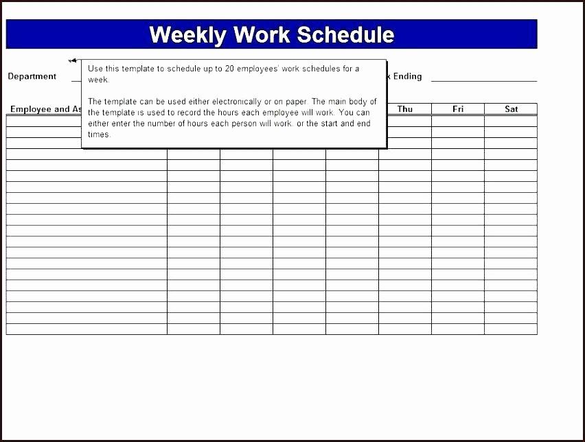 Weekly Employee Schedule Template Excel Awesome Monthly Employee Work Schedule Template Excel Restaurant