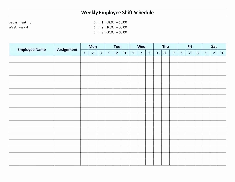 Weekly Employee Schedule Template Excel Beautiful Free Work Schedule Template Work Schedule Template 5 Days