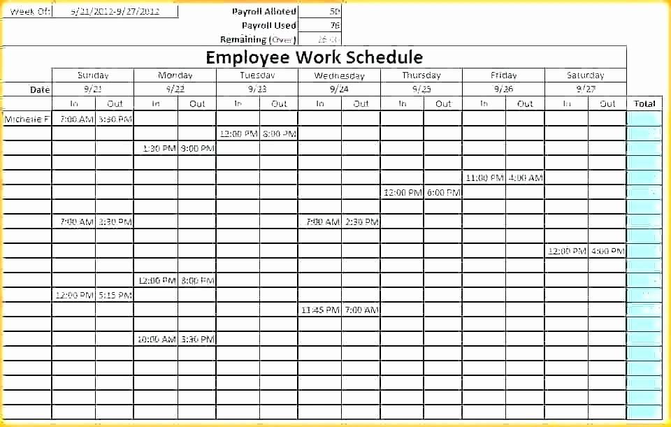 Weekly Employee Schedule Template Excel Best Of Staff Calendar Template Monthly Employee Work Schedule