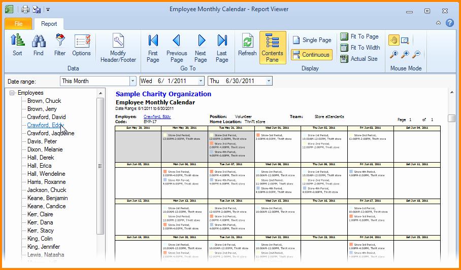 Weekly Employee Schedule Template Excel Fresh 7 Monthly Employee Schedule Template