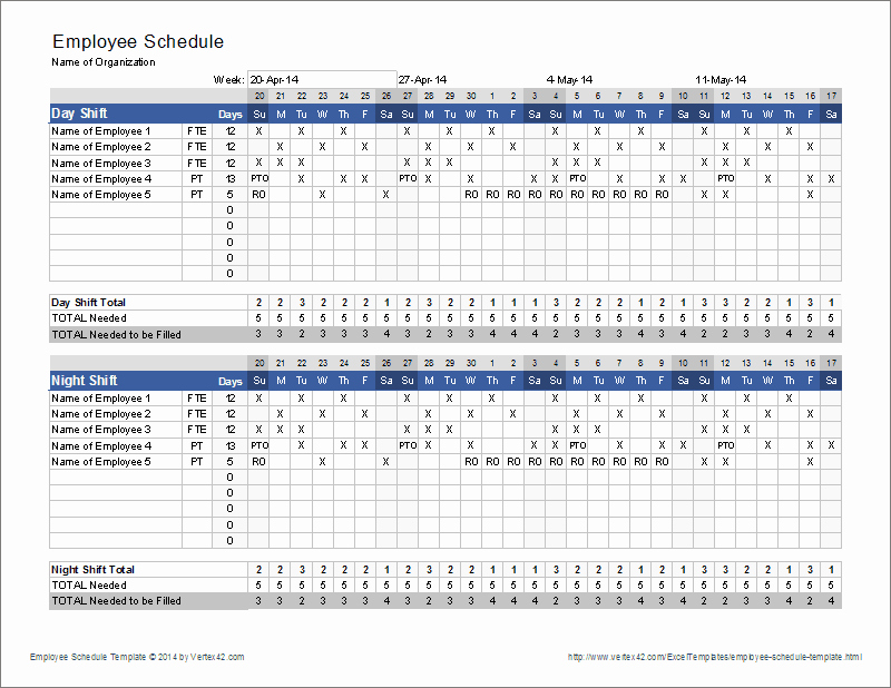 Weekly Employee Schedule Template Excel New Employee Schedule Template
