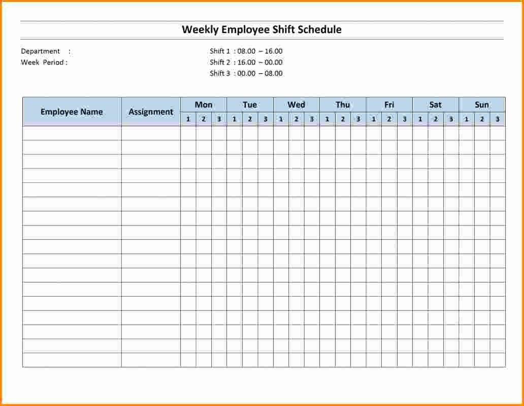 Weekly Employee Shift Schedule Template Best Of 7 Shift Schedule Template