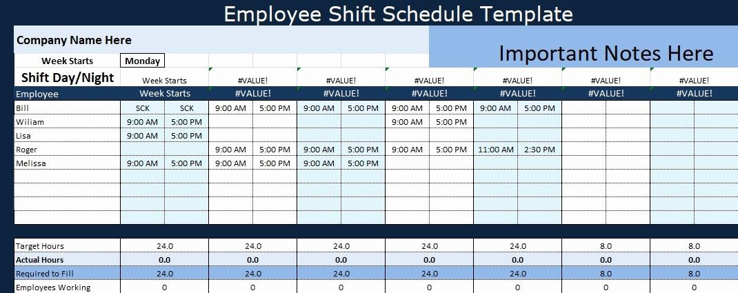 Weekly Employee Shift Schedule Template Best Of Employee Shift Schedule Template