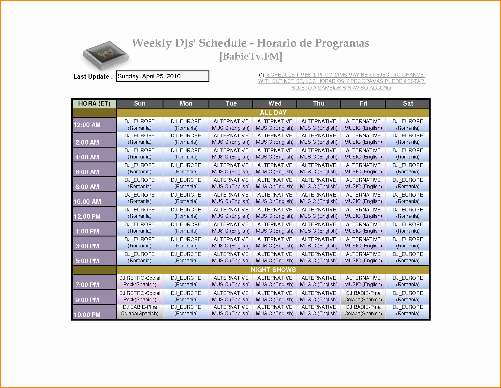 Weekly Employee Shift Schedule Template Elegant 7 Weekly Employee Schedule Template