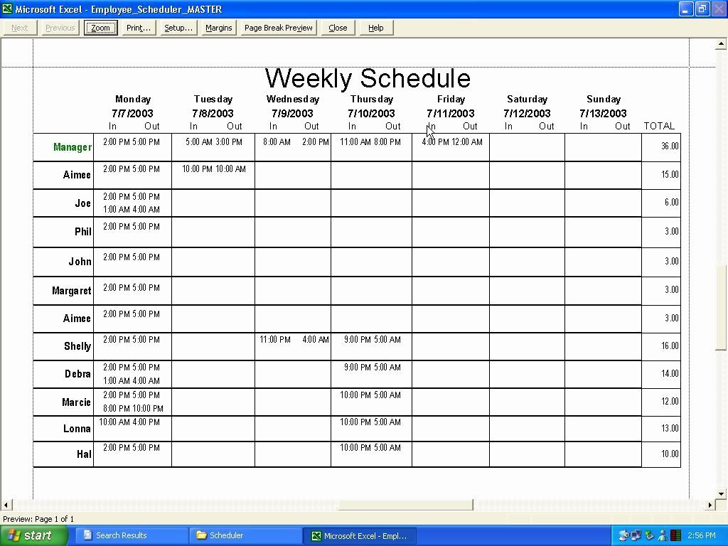 Weekly Employee Shift Schedule Template Elegant Employee Shift Schedule Template Excel