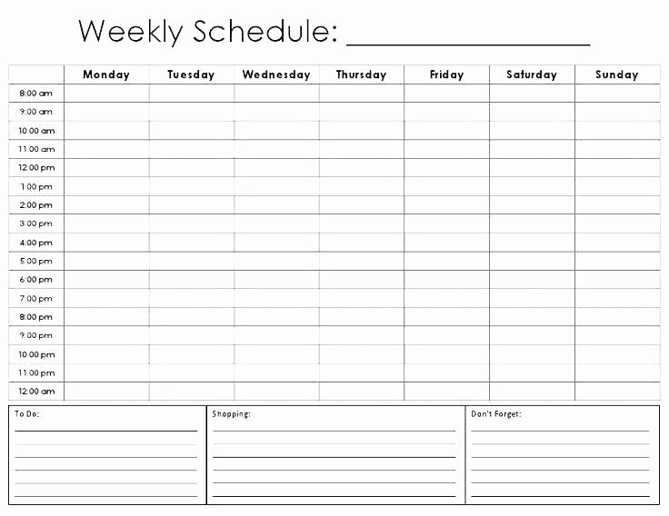 Weekly Employee Shift Schedule Template Elegant Weekly Schedule Template Excel Time Management Employee