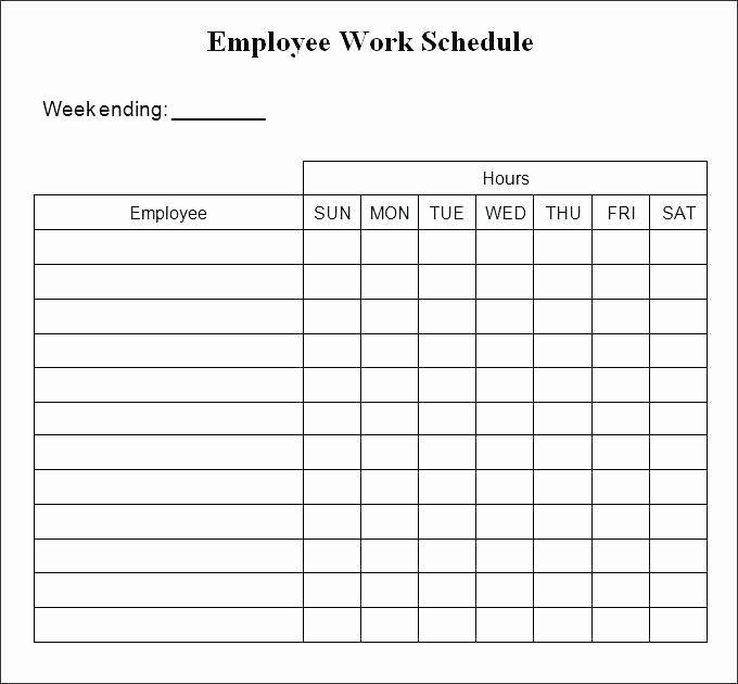 Weekly Employee Shift Schedule Template Fresh Excel Weekly Schedule Template Monthly Employee Work Shift