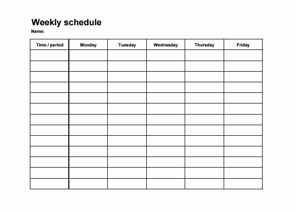 Weekly Employee Shift Schedule Template Luxury Employee Shift Schedule Template 12 Free Word Excel