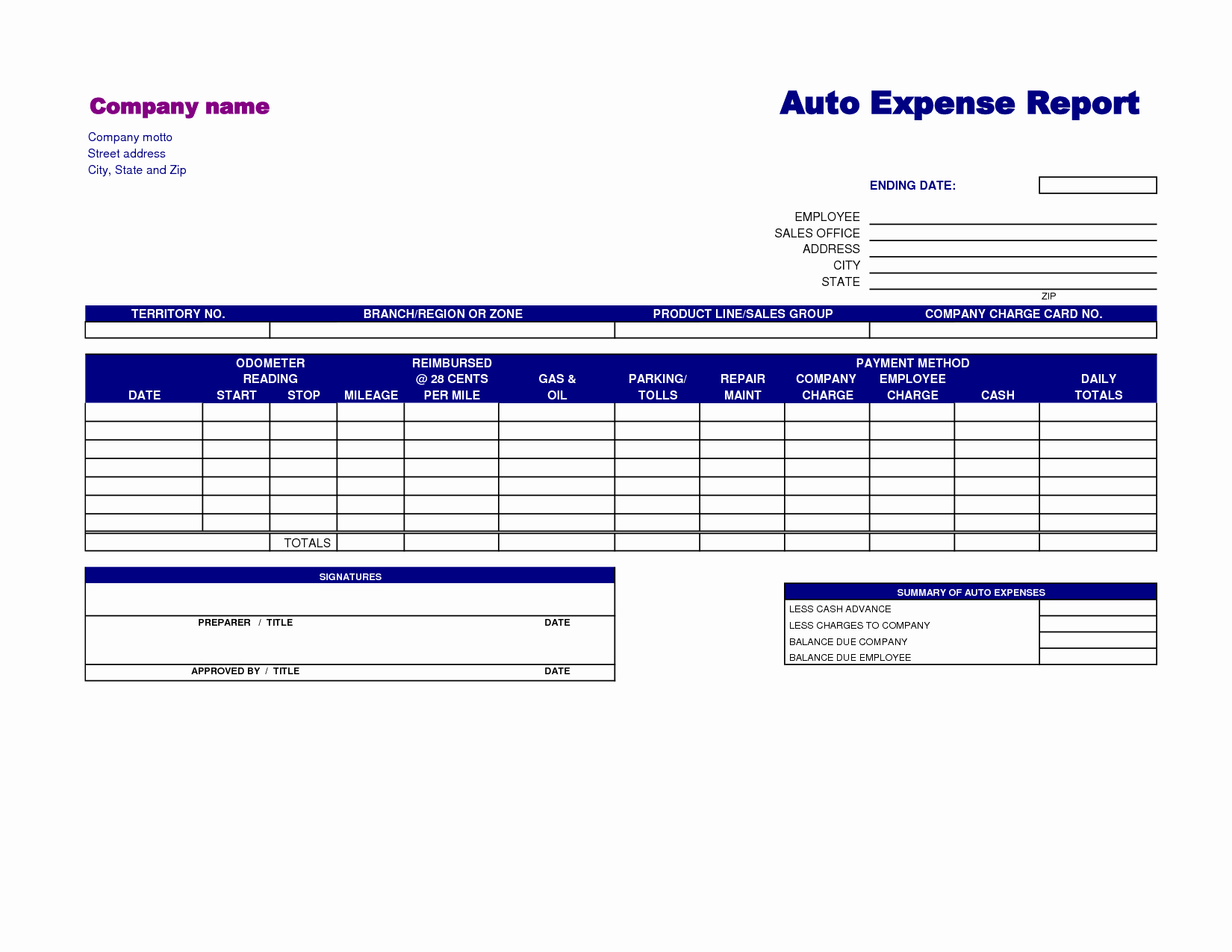 Weekly Expense Report Template Excel Awesome Monthly Expense Report Template 3 Fice Expense Report
