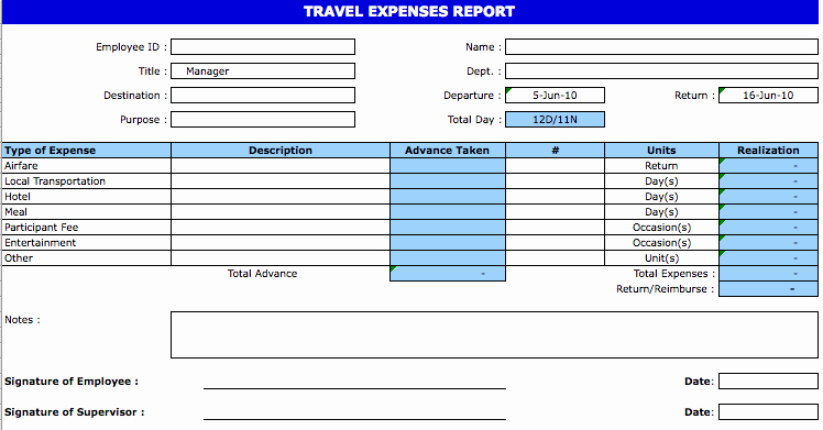 Weekly Expense Report Template Excel Inspirational Excel Template Expense Report