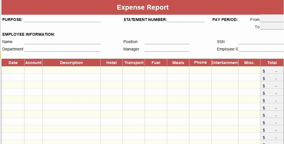 Weekly Expense Report Template Excel Unique Expense Report Template Daily Weekly Monthly Annual