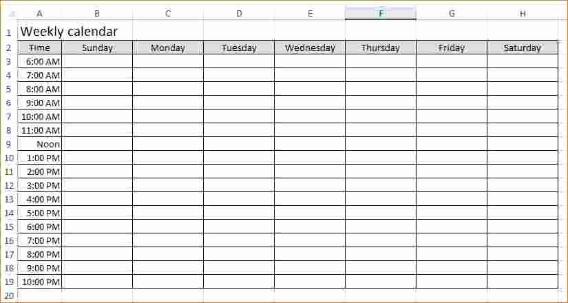 Weekly Hourly Planner Template Excel Beautiful Weekly Hourly Planner Template Excel Driverlayer Search
