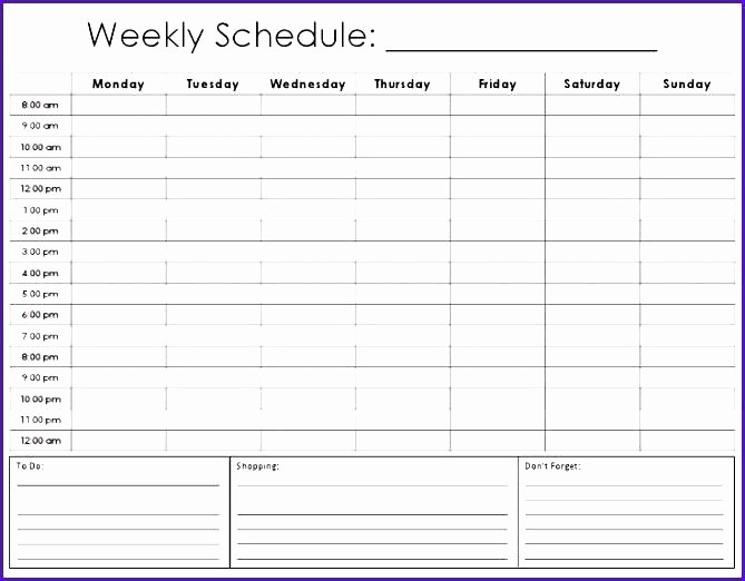 Weekly Hourly Planner Template Excel Fresh Daily Hourly Calendar Template Schedule Excel 8 Best