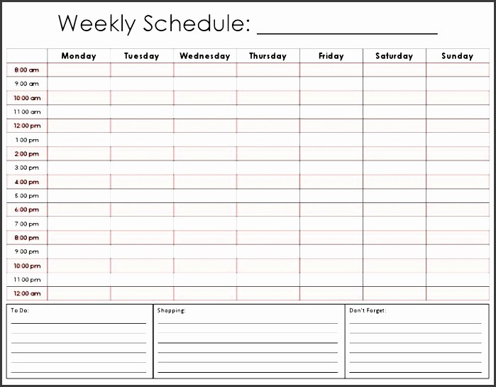 Weekly Hourly Planner Template Excel Lovely 9 E Week Planner Template Easy to Use Sampletemplatess