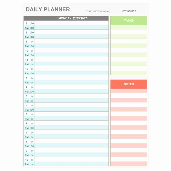 Weekly Hourly Planner Template Excel Luxury Daily Hourly Planner Template Excel Image Collections