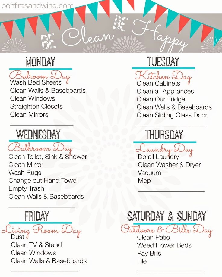 Weekly House Cleaning Schedule Template Awesome Weekly Cleaning Schedule Printable